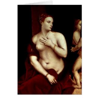 Venus vor dem Spiegel Karte