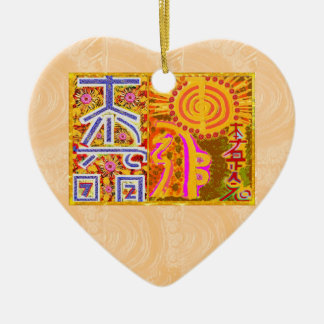 ver 2013. REIKI heilende VORLAGENsymbole Keramik Herz-Ornament