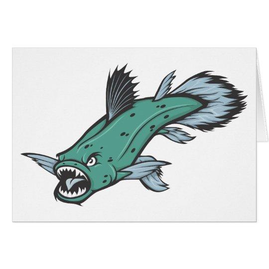 Verärgerte Coelacanth Fische Karte