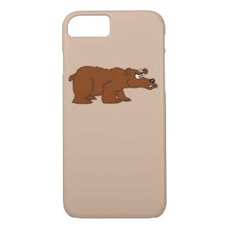 Verärgerte Hüllen iPhone Entwurf des braunen Bären