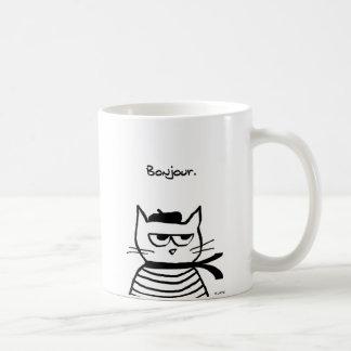 Verärgerte Katze ist so sehr französisch Kaffeetasse