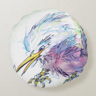 Verärgerte Vogel-Kissen-Digital-Kunst Rundes Kissen