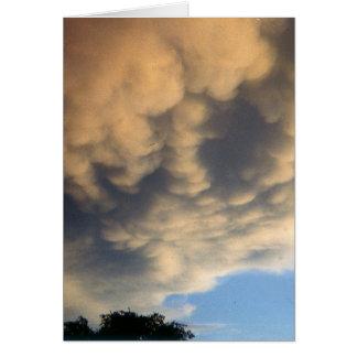 Verärgerte Wolken-Verkünder-Sturm Karte