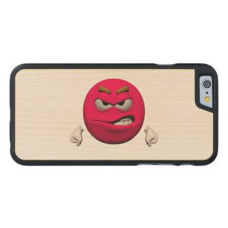 Verärgerter Emoticon Carved® iPhone 6 Hülle Ahorn