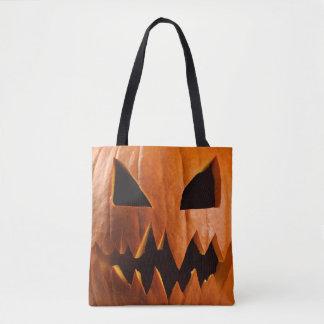 Verärgerter Halloween-Kürbis Tasche