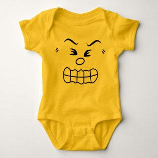 Verärgertes Emoticon-Baby-Kostüm Baby Strampler