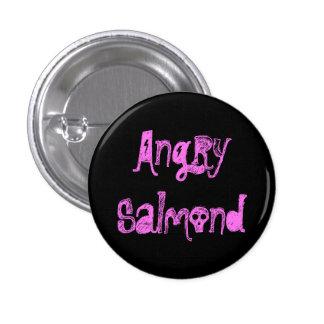 Verärgertes Salmond Runder Button 3,2 Cm