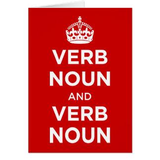 Verb-Nomen und Verb-Nomen Karte