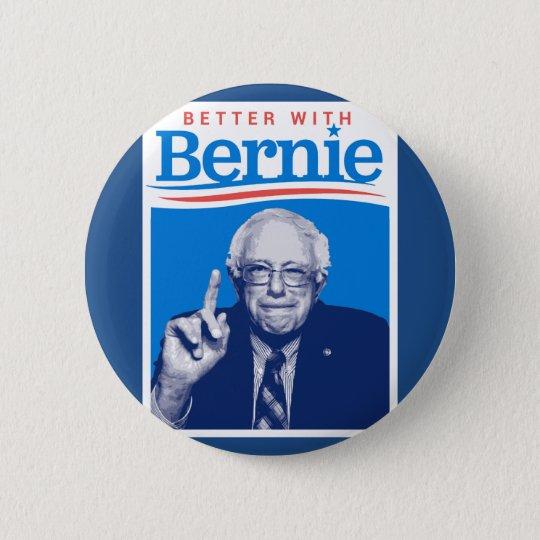 Verbessern Sie mit Bernie Runder Button 5,7 Cm