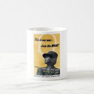 Verbinden Sie das WAAC -- WW2 Kaffeetasse