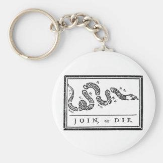 Verbinden Sie oder sterben Sie Schlüsselanhänger