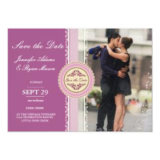 Verbinden Sie Romanze Kuss im Brunnen/im rosa 12,7 X 17,8 Cm Einladungskarte