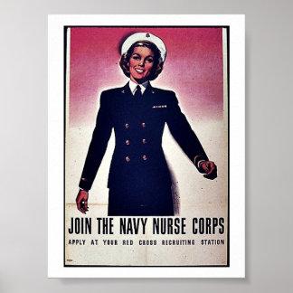 Verbinden Sie Tht Marine-Krankenschwester-Korps Poster