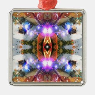 Verbindung in Zeit und Raum Silbernes Ornament