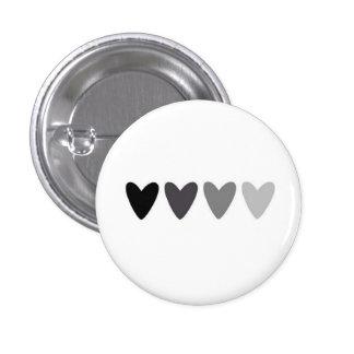 Verblassender Herz-Knopf Runder Button 2,5 Cm