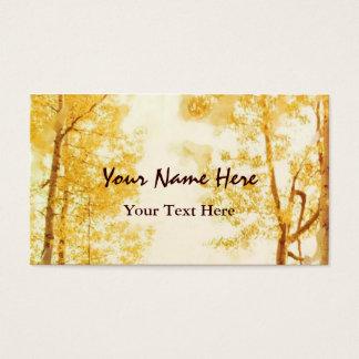Verblaßte Espen-Visitenkarte Visitenkarte