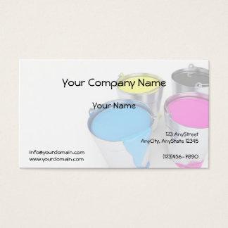 Verblaßte Farben-Dosen im Visitenkarte