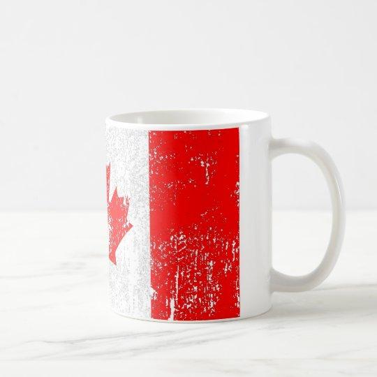 Verblaßte Flagge von Kanada Tasse