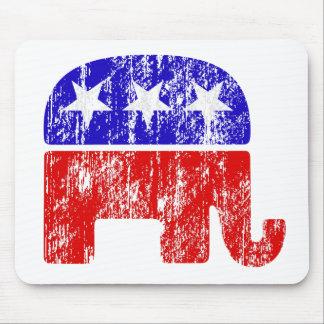 Verblaßter republikanischer Elefant Mauspads