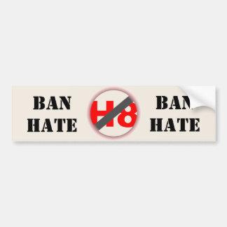 Verbot-Hass Autoaufkleber