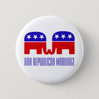 Verbot-republikanische Heirat-lustige homosexuelle Runder Button 5,1 Cm