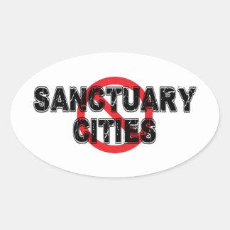 Verbot-Schongebiet-Städte Ovaler Aufkleber
