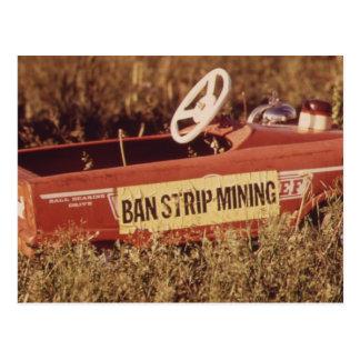 Verbot-Tagebau! - Vintag Postkarte