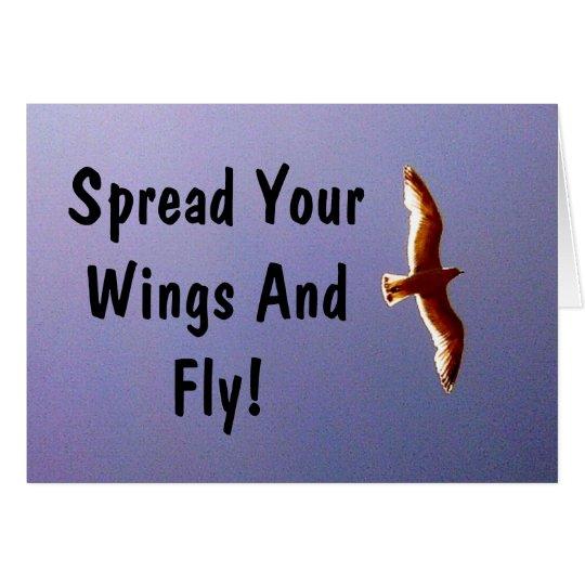 Verbreiten Sie Ihre Flügel-Gruß-Karte Grußkarte