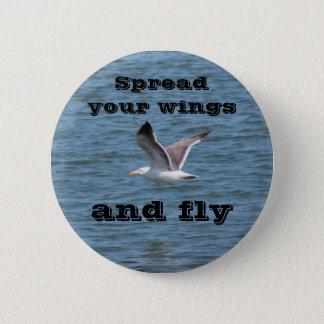 Verbreiten Sie Ihre Flügel Runder Button 5,1 Cm