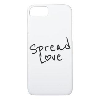 Verbreiten Sie Liebe iPhone 7 Hülle