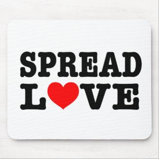 Verbreiten Sie Liebe-Mausunterlage Mousepads