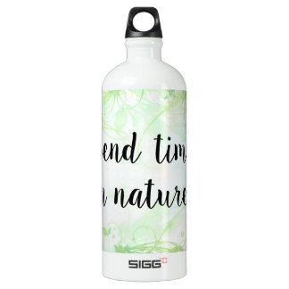 Verbringen Sie Zeit in der Natur (1.0L), weiß Aluminiumwasserflasche