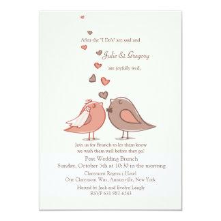 Verbundene Posten-Hochzeits-Brunch-Einladung 12,7 X 17,8 Cm Einladungskarte