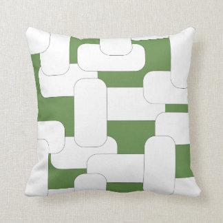 Verbundenes Weiß u. Grün Kissen