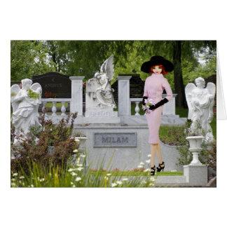 Verdi - rosa Kleidung, Engel in Glenwood Friedhof Karte