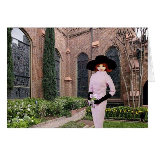 Verdi - rosa Kleidung, Frühling an Christus-Kirche Grußkarte