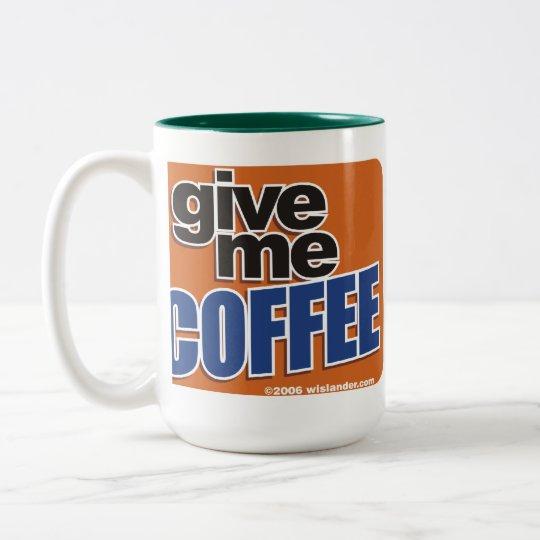 Verdrahteter Kaffee 1 Zweifarbige Tasse