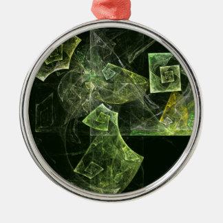 Verdrehte Balancen-abstrakte Kunst rund Silbernes Ornament