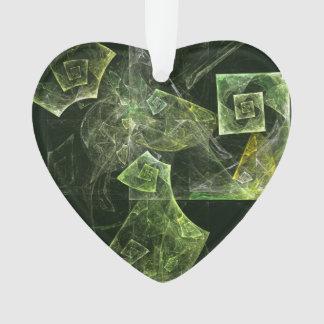 Verdrehte Balancen-abstraktes Kunst-Acryl-Herz Ornament