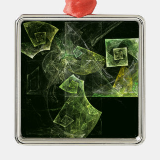 Verdrehte Balancen-abstraktes Kunst-Quadrat Silbernes Ornament