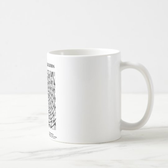 Verdrehte Schnur-Illusion (falsche Spirale) Kaffeetasse