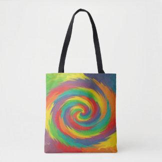 Verdrehter Regenbogen Tasche