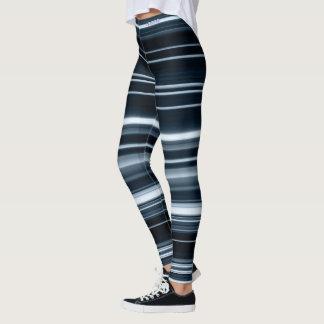 Verehren Sie blauer Blitz Striped Gamaschen Leggings