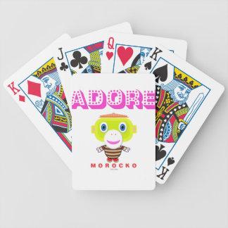Verehren Sie - niedlichen Affen-Morocko Bicycle Spielkarten