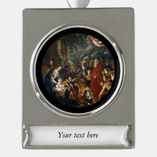 Verehrung der Könige durch Ruben Banner-Ornament Silber
