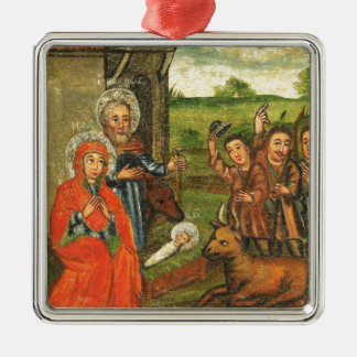 Verehrung der Schäfer-Weihnachtsverzierung Silbernes Ornament