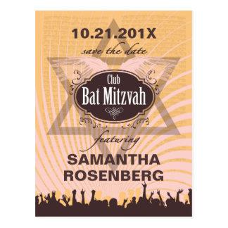 Verein-Schläger Mitzvah Save the Date Postkarte