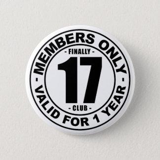 Verein schließlich 17 runder button 5,7 cm