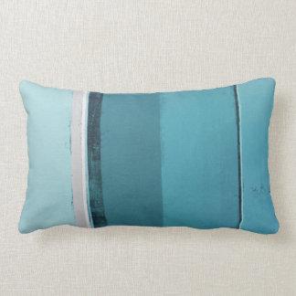 """""""Vereinbaren Sie"""" aquamarine und graue abstrakte Kissen"""