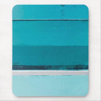 """""""Vereinbaren Sie"""" aquamarine und graue abstrakte Mousepad"""